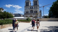 Notre Dame Forecourt Opens to Public After Long Cleanup