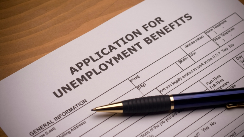 Unemployment benefits application