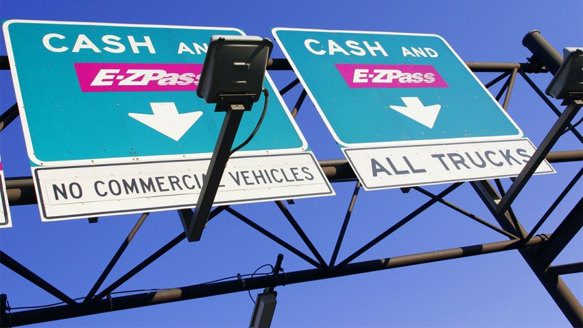 New Jersey Turnpike toll both signs