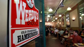 In this file photo, people eat in a Wendy's April 24, 2008, in New York City.