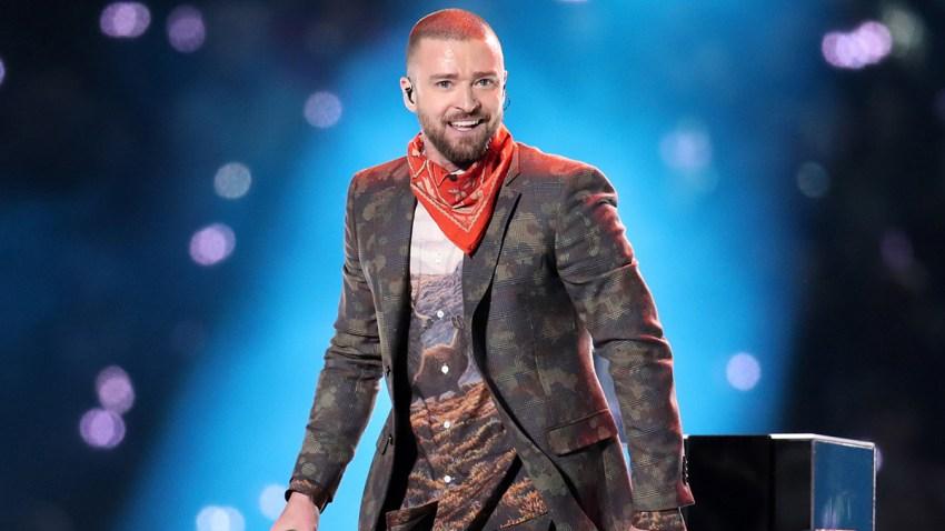 Justin Timberlake Performs at Super Bowl