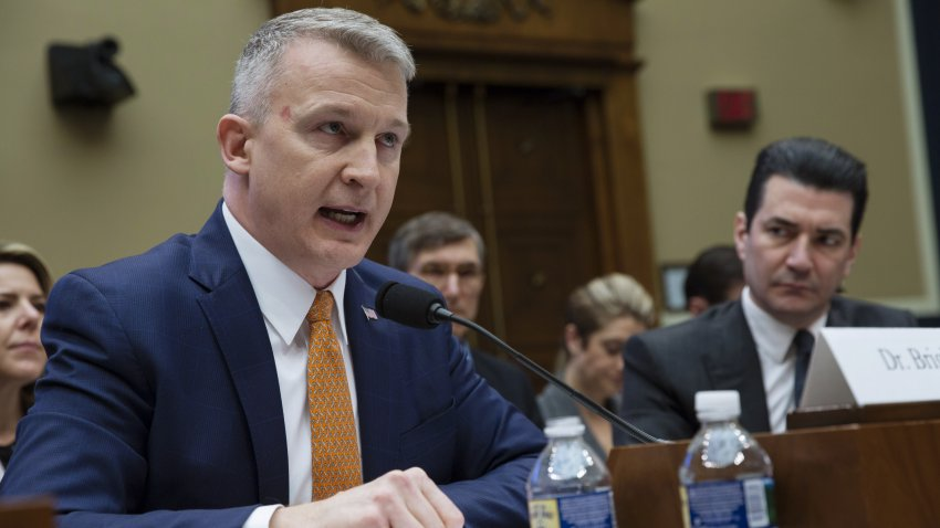 Rick Bright, then-deputy assistant secretary for preparedness and response for Health and Human Services (HHS), speaks during a House Oversight and Investigations Subcommittee hearing in Washington, D.C., U.S., on Thursday, March 8, 2018.