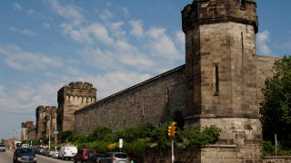Exterior of Eastern State Penitentiary.