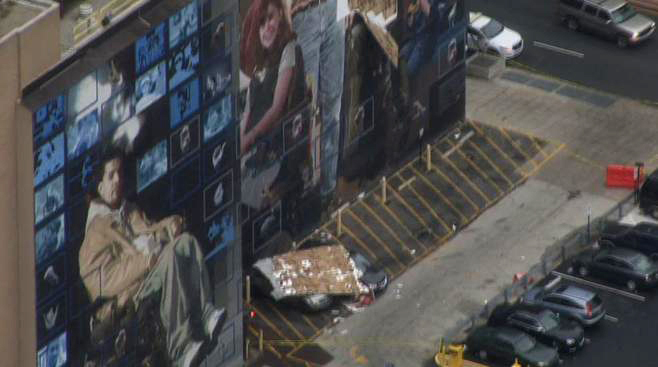 Hahnemann Mural Cars Crushed Collapse1