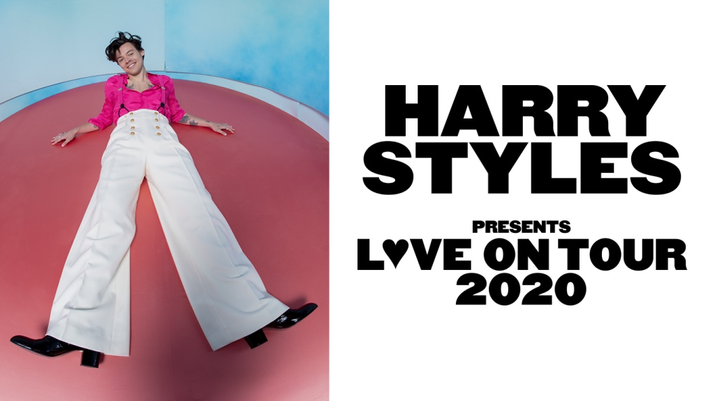 A flyer for the Harry Styles Love on Tour.