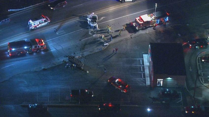 Hatfield Crash Car Overturned