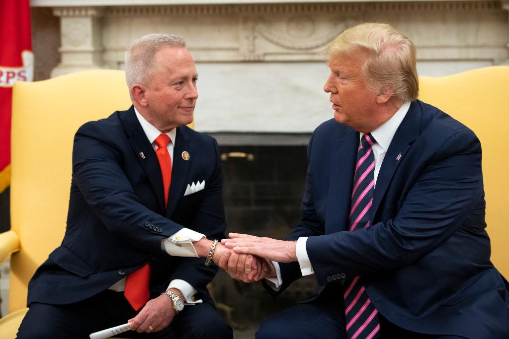 President Trump and Jeff Van Drew