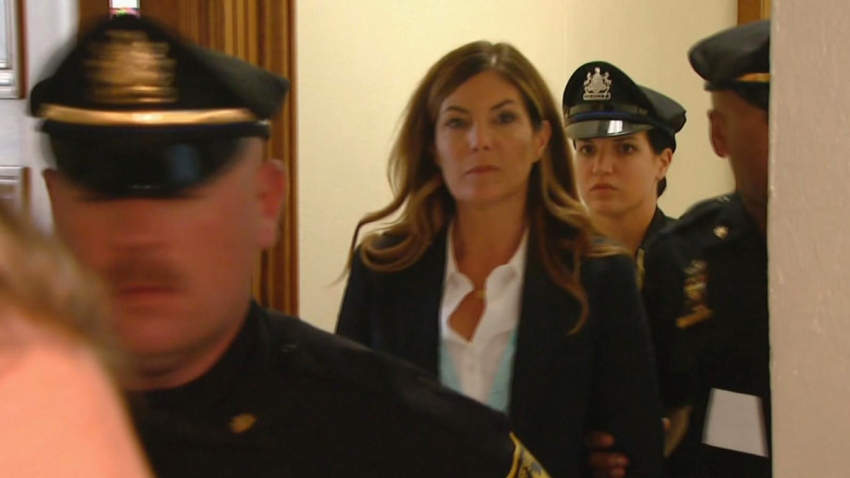 Kathleen Kane Leaving Court NBC10 Cam