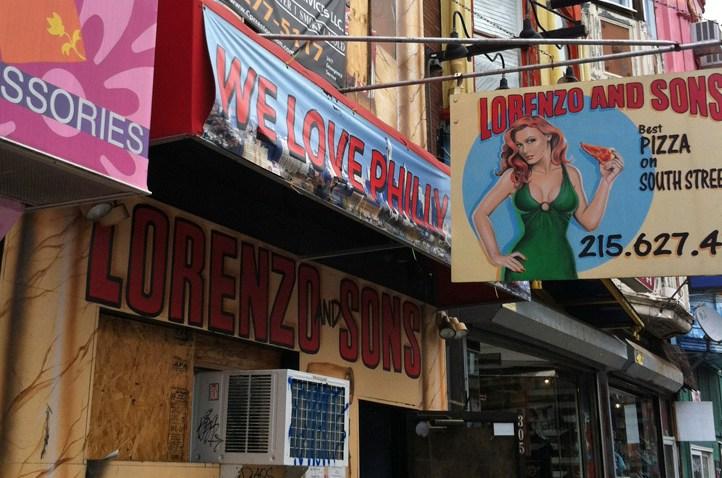 Lorenzos Pizza Sign