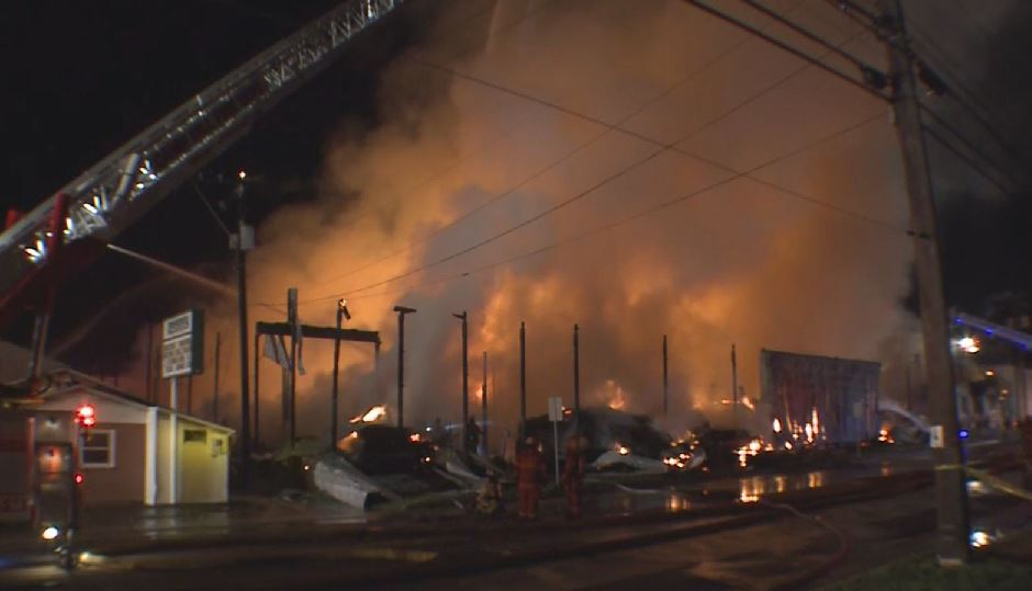 Massive Fire Consumes Pennsylvania Lumber Yard - NBC10 ...