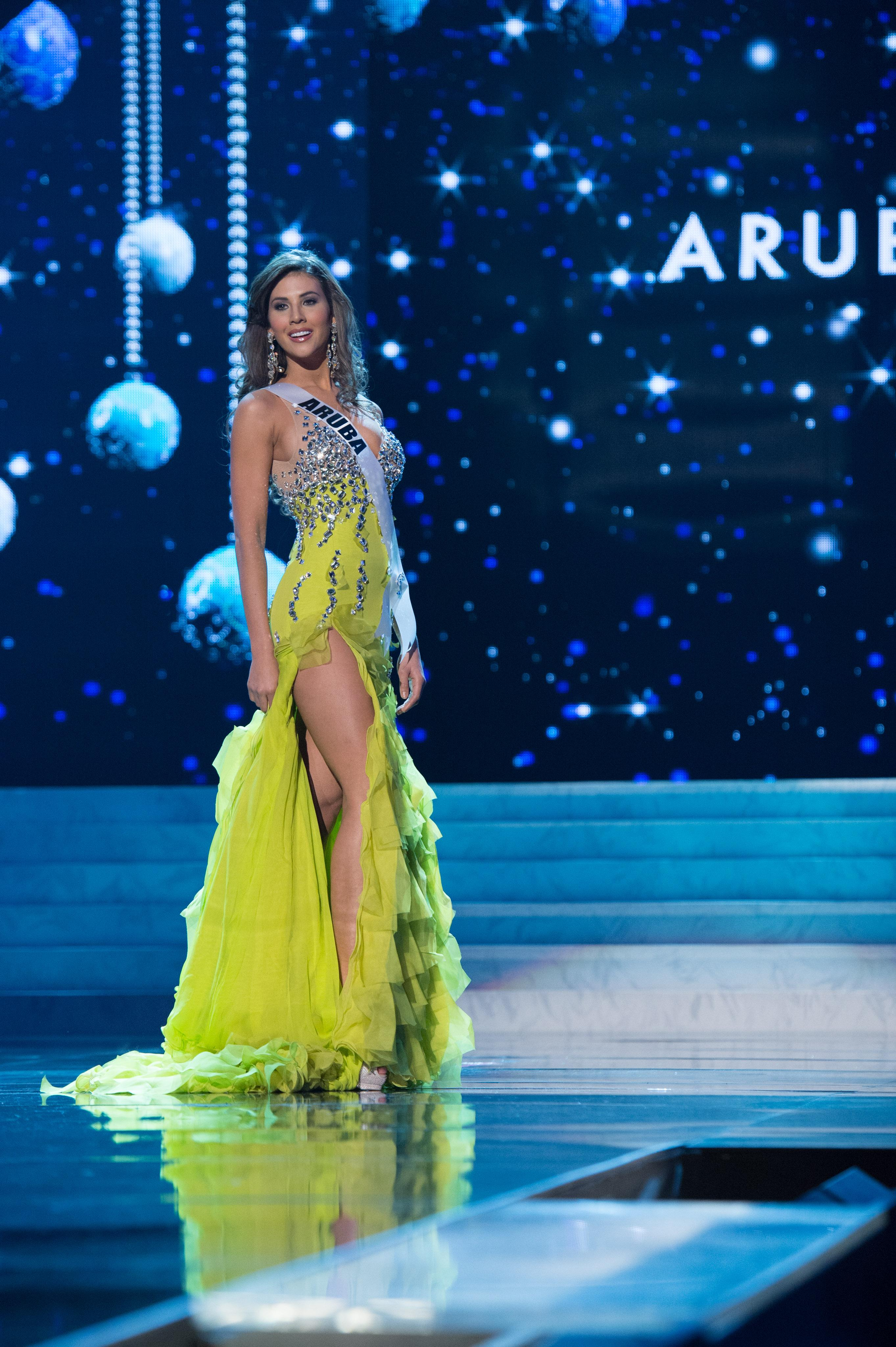 Miss Universe 2012 Meet 89 Contestants in Evening Gown