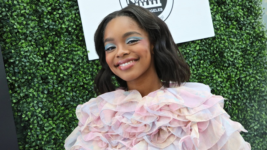 In this March 8, 2020, file photo, actress Marsai Martin attends the 2020 Sisters' Awards at Skirball Cultural Center in Los Angeles, California.