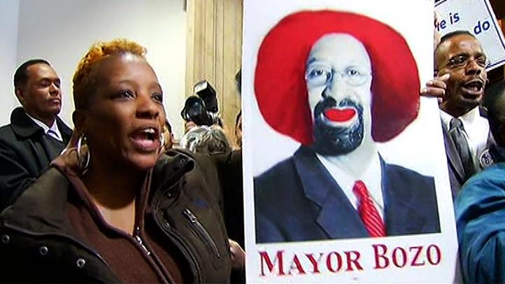Mayor Bozo Nutter Union Protest