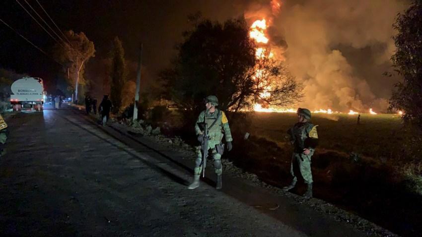 APTOPIX Mexico Pipeline Fire