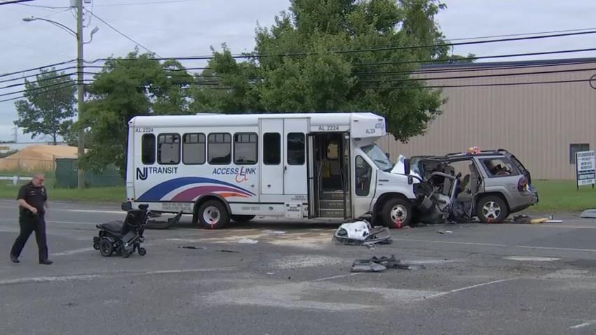NJ Transit Bus Crash SUV Berlin NJ