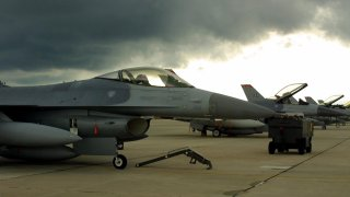 F-16C Fighting Falcons of the 177th Fighter Wing, New Jersey Air National Guard.