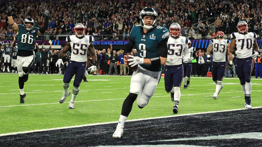 "Nick Foles catches the ""Philly Special"""
