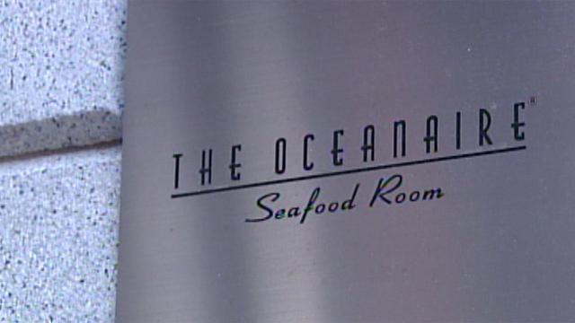 Oceanaire restaurant sign
