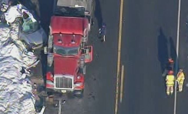Oldmans Township Crash Big Rig Car