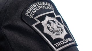 A photo shows the patch from a Pennsylvania State Police trooper.