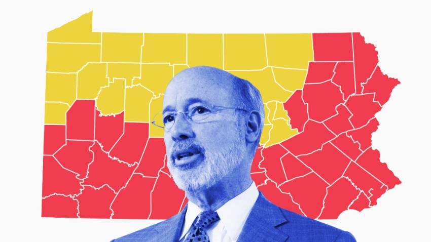 Gov. Wolf and a map