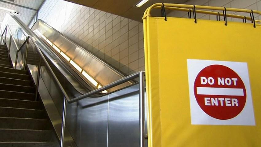 PATCO escalators broken