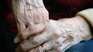 PHI elderly woman's hands