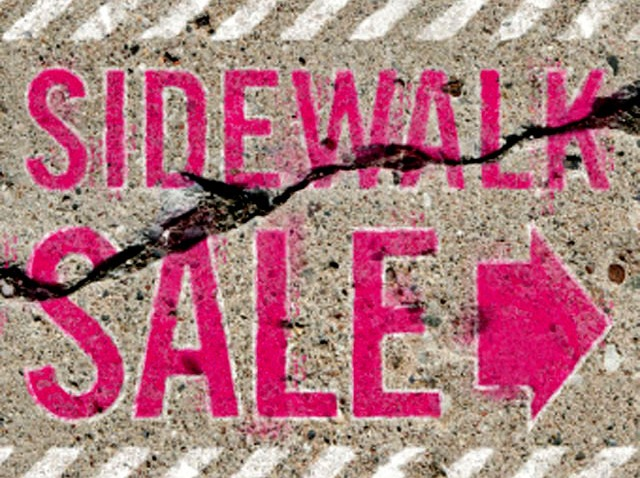 PHI sidewalk sale sign