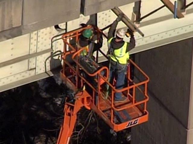 PHI twin bridge construction crew