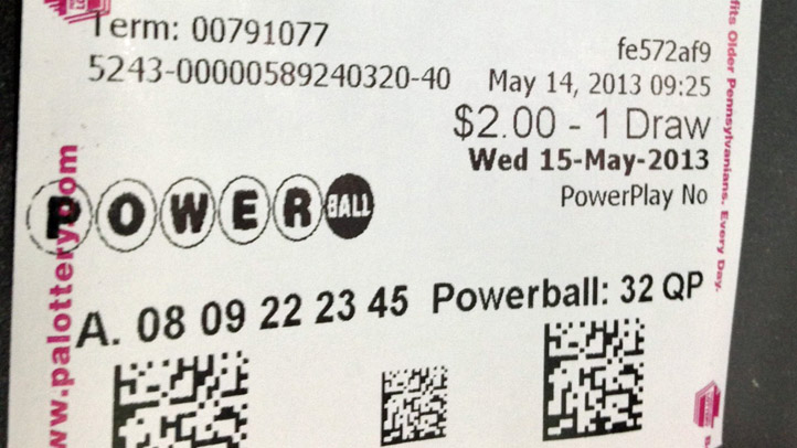 Pa Lottery Powerball Ticket