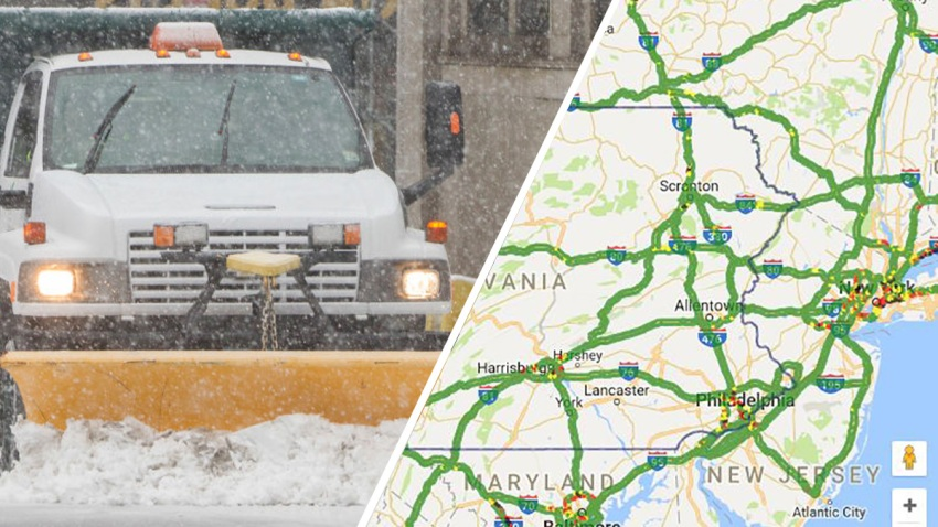 Pa Snow Plow Color Map