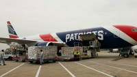 Patriots' Plane Used to Deliver Over 1.7M N95 Masks to Mass.