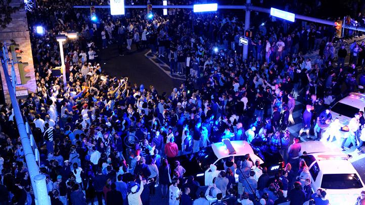Penn State Riot Crowd