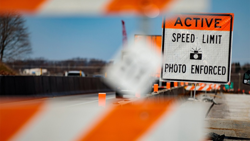 Work zone speed enforcement zone