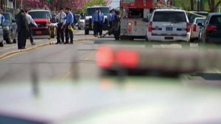 Philadelphia Police Lights Firefighters