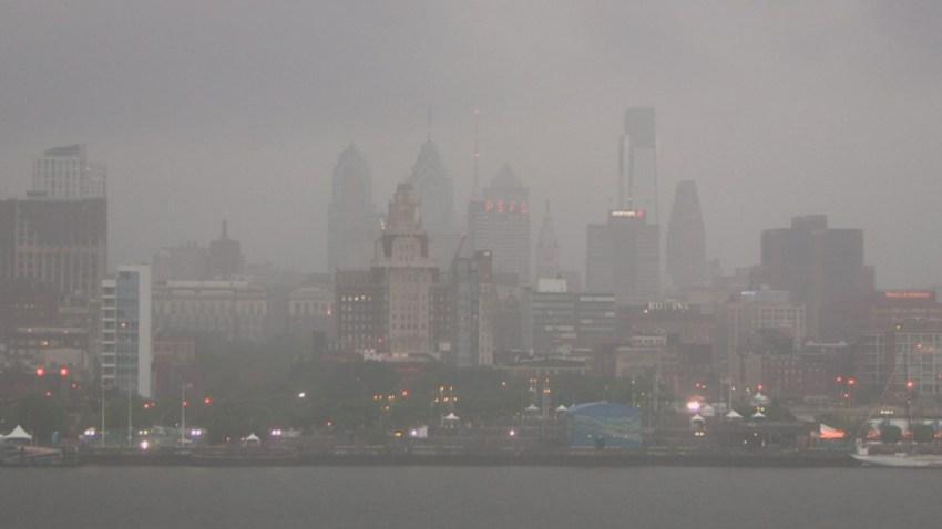 Philly-Rain-Skyline