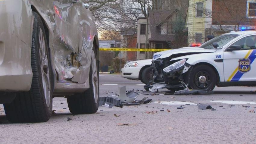Police Car Crash Ardleigh Germantown