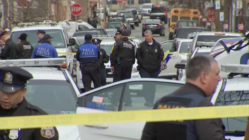 philadelphia police officers on a street