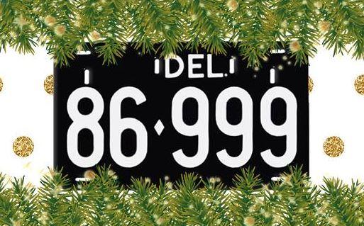 Retro Delaware License Plate