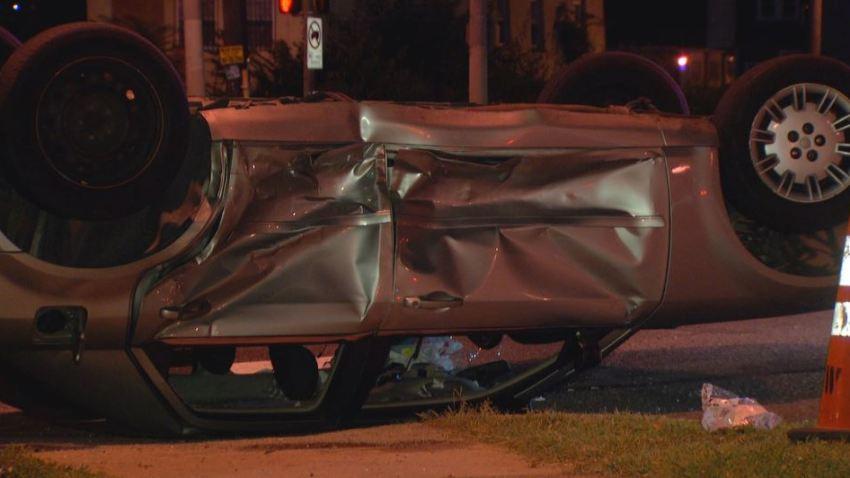 Roosevelt Boulevard Crash Car Flipped