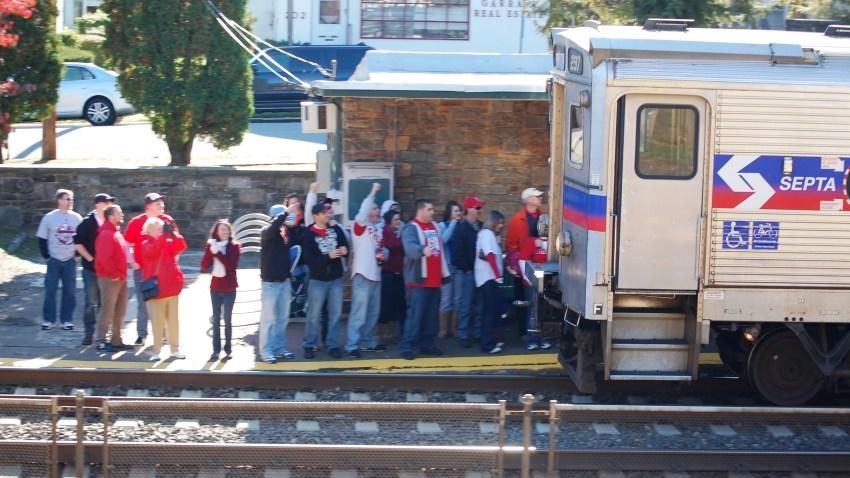 SEPTA Station packed