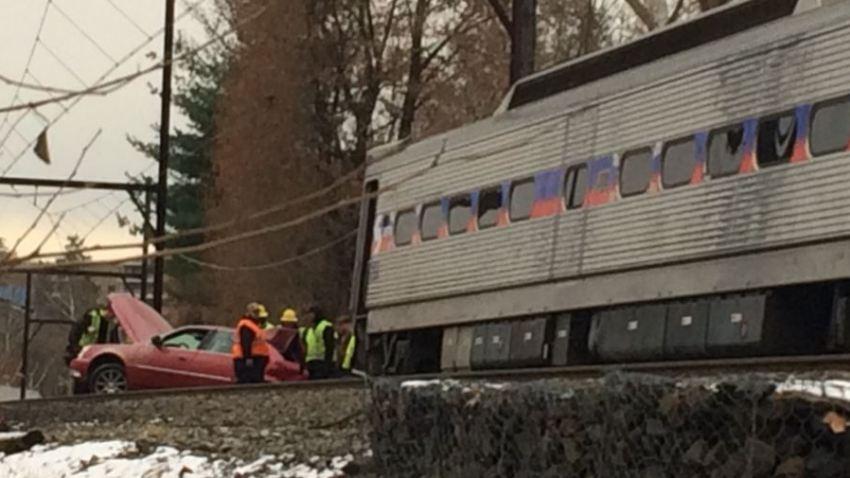 SEPTA Train Crash Glenside Car