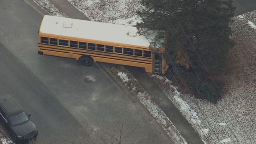 School Bus Crash Newark Tree