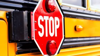 File image of a school bus stop sign