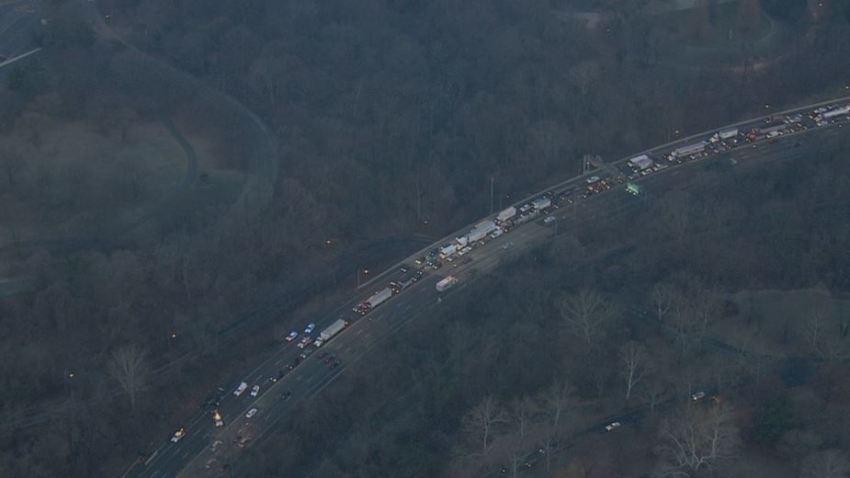 Schuylkill Expressway Crash I76 Rollover Montgomery
