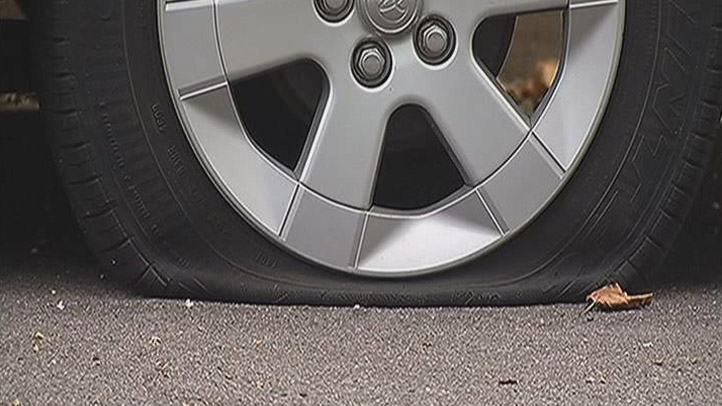 Slashed Prius Tire