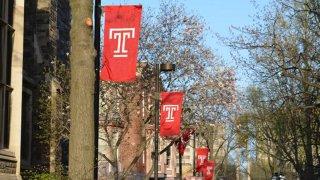 Temple University flags