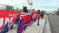 Excitement Builds as People Line Up to Get Inside Wildwoods Trump Rally