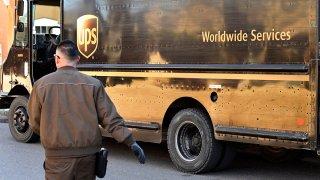 UPS truck driver