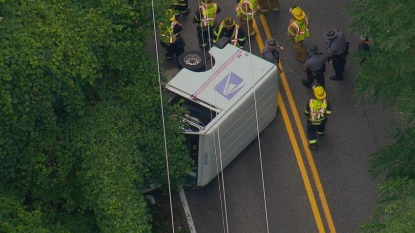 USPS Mail Truck Crash Delco